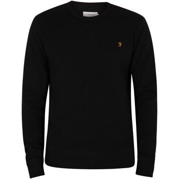 Kleidung Herren Pullover Farah Vintage Tim Sweatshirt schwarz