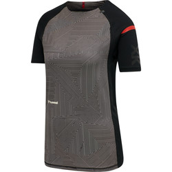 Kleidung Damen T-Shirts Hummel Maillot d'échauffement femme  hmlPRO XK noir/rose clair
