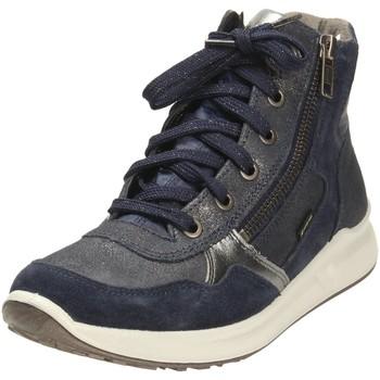 Schuhe Mädchen Sneaker High Legero High Stiefelette Leder \ MERIDA HS 1-009188-8000 blau