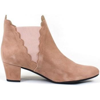 Schuhe Damen Low Boots Gennia KATERINE Veloursleder Beige Sand Other