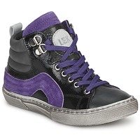Schuhe Jungen Sneaker High Little Mary OPTIMAL Schwarz / Violett