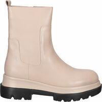 Schuhe Damen Boots Shabbies Amsterdam Stiefelette Hellgrau