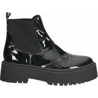 Schuhe Damen Boots Steve Madden Stiefelette Schwarz Lack