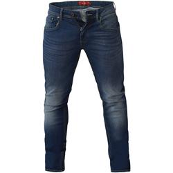 Kleidung Herren Slim Fit Jeans Duke  Dunkelblau Stonewash