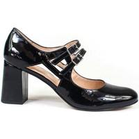 Schuhe Damen Pumps Gennia VRADA Lackleder Schwarz Schwarz