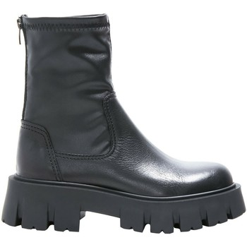 Schuhe Damen Low Boots Inuovo Stiefelette Schwarz