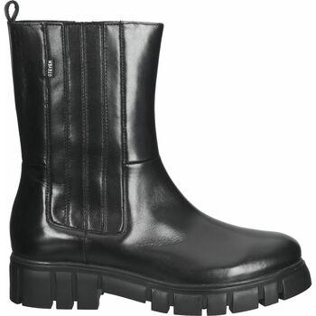 Schuhe Damen Boots Steven New York Stiefelette Schwarz