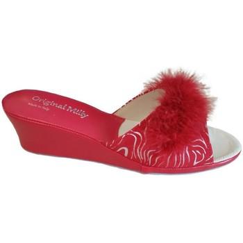 Schuhe Damen Pantoffel Milly MILLY102zebrarox rosso