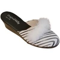 Schuhe Damen Pantoletten / Clogs Milly MILLY300zebra bianco