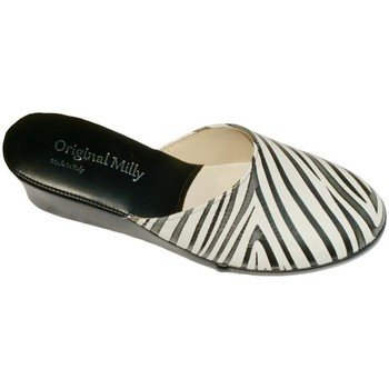 Schuhe Damen Pantoletten / Clogs Milly MILLY5000zebra nero