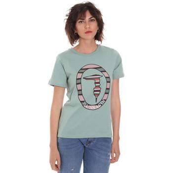 Kleidung Damen T-Shirts Trussardi 56T00371-1T005228 Grün
