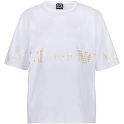 Kleidung Damen T-Shirts Ea7 Emporio Armani 3KTT18 TJ29Z Weiß