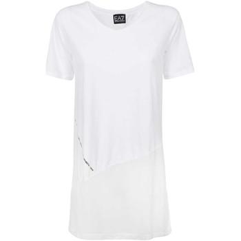 Kleidung Damen T-Shirts Ea7 Emporio Armani 3KTT36 TJ4PZ Weiß