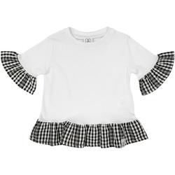 Kleidung Mädchen T-Shirts Naturino 6001011 01 Weiß