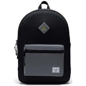 Taschen Jungen Rucksäcke Herschel Herschel Heritage Youth X-Large Black/Silver Reflective Schwarz