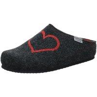 Schuhe Damen Hausschuhe Tofee Filzpantoffel 1061038 schwarz