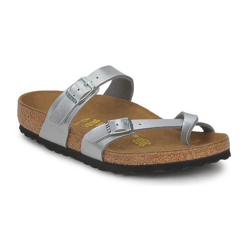 Birkenstock MAYARI Silbern  Schuhe Pantoffel Damen 59,99