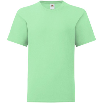 Kleidung Kinder T-Shirts Fruit Of The Loom 61023 Mint
