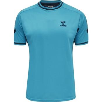 Kleidung T-Shirts Hummel Maillot  Poly hmlACTION bleu/bleu marine