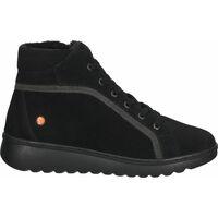 Schuhe Damen Boots Softinos Stiefelette Schwarz