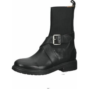 Schuhe Damen Low Boots Shabbies Amsterdam Stiefel Schwarz