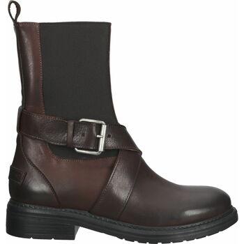 Schuhe Damen Low Boots Shabbies Amsterdam Stiefel Dunkelbraun