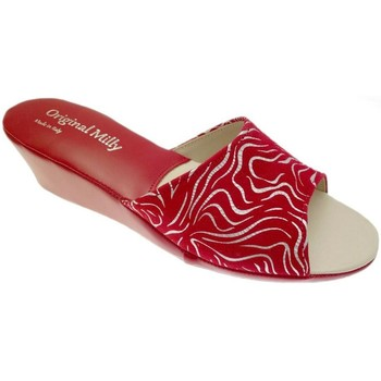 Schuhe Damen Pantoffel Milly MILLY103zebraros rosso