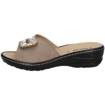Schuhe Damen Pantoffel Tiglio 2700 BEIGE