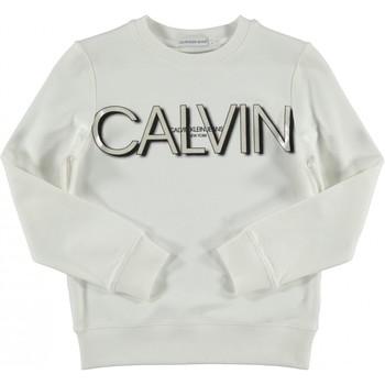 Kleidung Mädchen Sweatshirts Calvin Klein Jeans IG0IG01006 Weiß