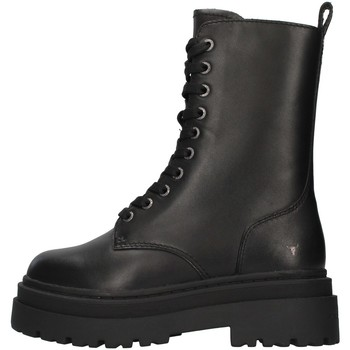 Schuhe Damen Low Boots Windsor Smith WSSPAYBACK SCHWARZ