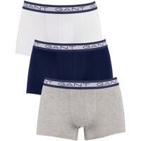 Unterwäsche Herren Boxershorts Gant 3 Pack Basic Trunks mehrfarbig