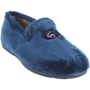 Schuhe Herren Hausschuhe Garzon Go by house Gentleman  6501.275 blau Blau