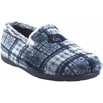 Schuhe Herren Hausschuhe Garzon Go home Gentleman  6501.292 blau Grau