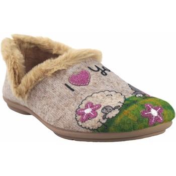 Schuhe Damen Hausschuhe Garzon Hause gehen Frau  5393.279 beige Grün