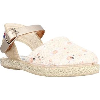 Schuhe Mädchen Leinen-Pantoletten mit gefloch Conguitos LVS14543 Gold
