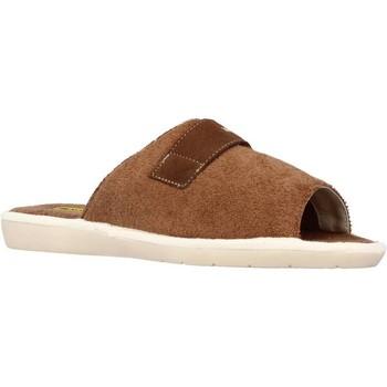 Schuhe Herren Hausschuhe Nordikas 7336B Brown