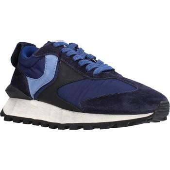 Schuhe Damen Sneaker Low Voile Blanche 111977 Blau