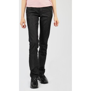 Kleidung Damen Straight Leg Jeans Lee Amy L339KCEA schwarz