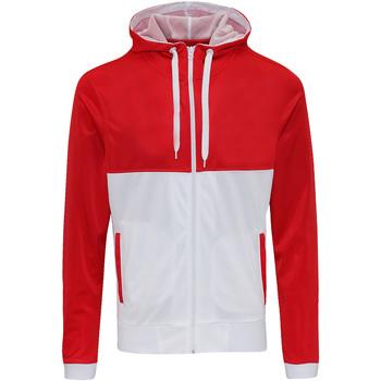 Kleidung Herren Sweatshirts Awdis JH059 Feuerrot/Arctic Weiß