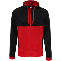 Kleidung Herren Sweatshirts Awdis JH059 Schwarz/Feuerrot