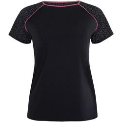 Kleidung Damen T-Shirts Lisca Kurzarm-Sporthemd Playful  Cheek Perlschwarz