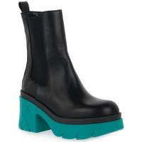 Schuhe Damen Low Boots Priv Lab MARINO BEATLES Blu