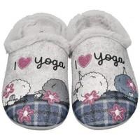 Schuhe Damen Hausschuhe Garzon 58518 grau