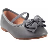 Schuhe Mädchen Ballerinas Bubble Bobble Mädchenschuh  a2702 grau Grau