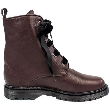 Schuhe Damen Boots Gennia KENDAL Mahagoni Rindsleder Rot