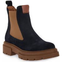 Schuhe Damen Low Boots Priv Lab 130C BLU CAMOSCIO Blu