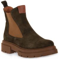 Schuhe Damen Low Boots Priv Lab 130C MILITARE CAMOSCIO Verde