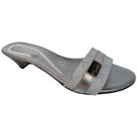 Schuhe Damen Pantoffel Keys T.10 pantoletten hausschuhe Silbern