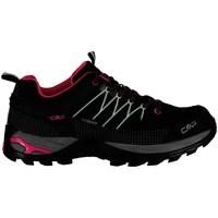 Schuhe Damen Wanderschuhe Cmp Sportschuhe RIGEL LOW WMN TREKKING SHOES WP 3Q54456 schwarz