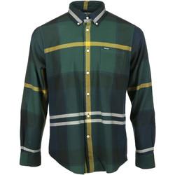 Kleidung Herren Langärmelige Hemden Barbour Dunoon Tailored Shirt Grün